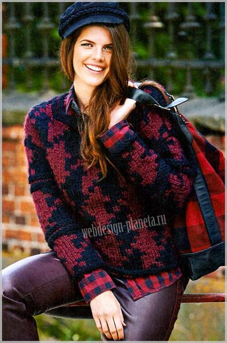 zhenskij-pulover-spitsami-s-uzorom-gusinye-lapki-foto (465x700, 406Kb)