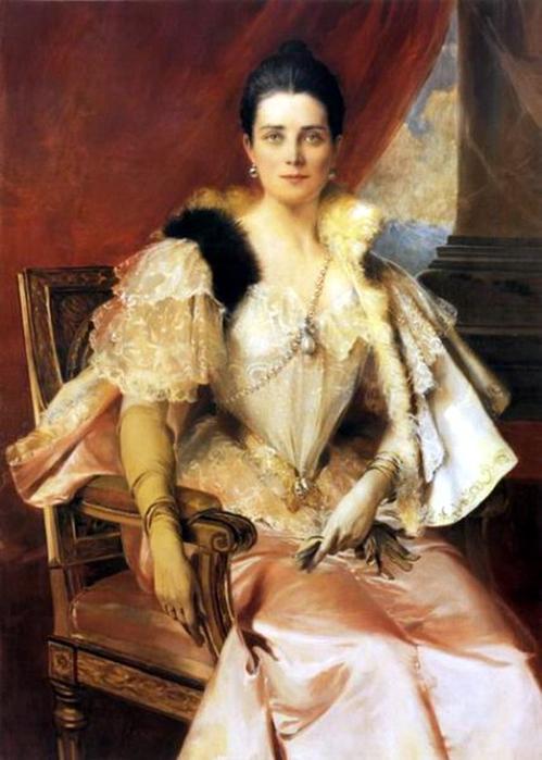 Ф. Фламенг. Портрет княгини З. Н. Юсуповой. 1894 г. (499x700, 340Kb)