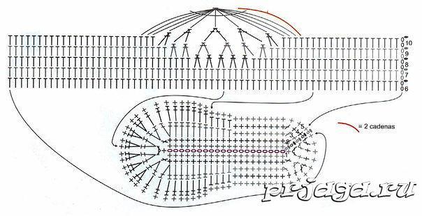 схема тапочки машинки