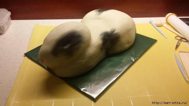 Кролик из мастики для сладкого 3D торта (2) (640x360, 79Kb)