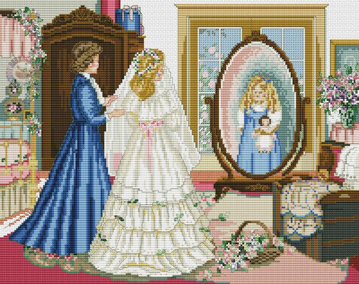 Схемы вышивки крестом доченька 11