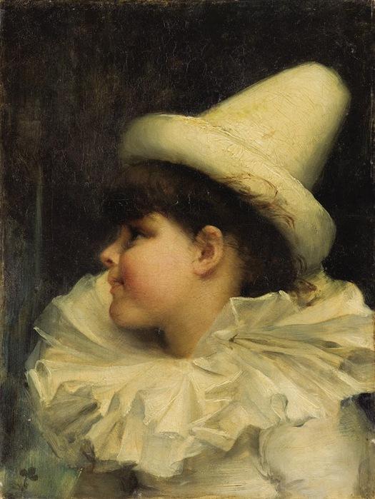 French School (19th Century) �Le Petit Pierrot� (525x700, 124Kb)