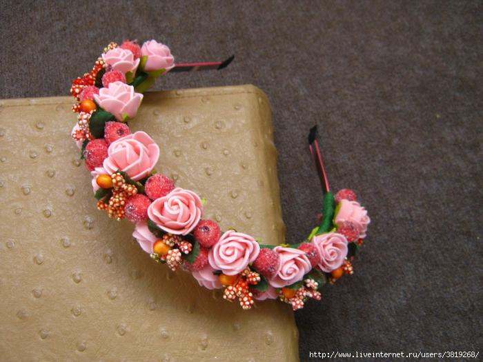 Как сделать ободок из цветов на голову своими руками