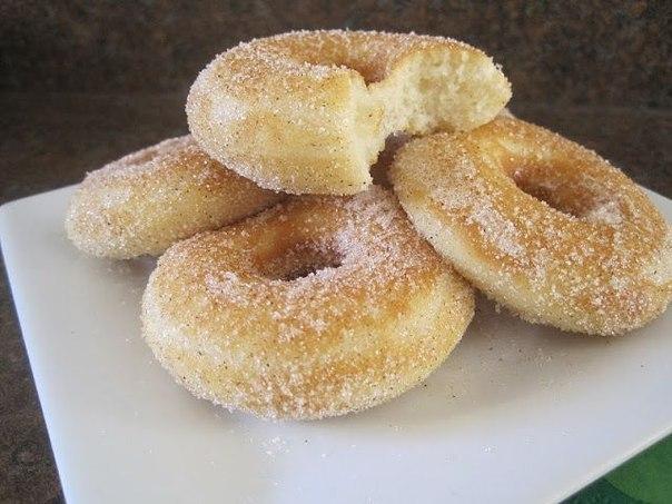 Пончики с сахаром и корицей (604x453, 61Kb)