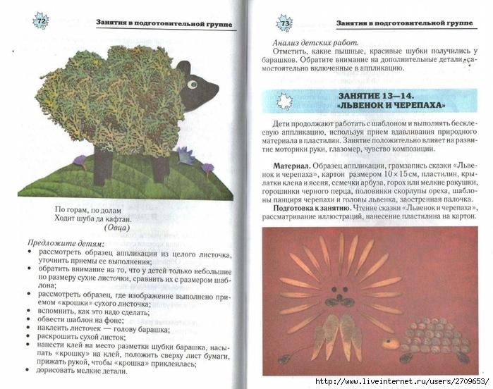 Апликация из природного материала в детском саду.page37 (700x552, 297Kb)