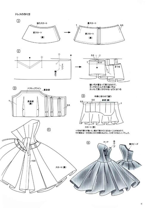 Схемы как сшить платье барби
