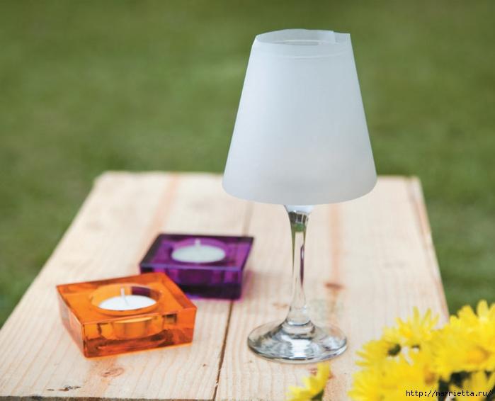 Candelabros para una noche romántica de vasos de vino (1) (700x566, 179KB)
