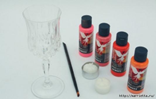 Candelabros para una noche romántica de vasos de vino (2) (533x338, 64 Kb)