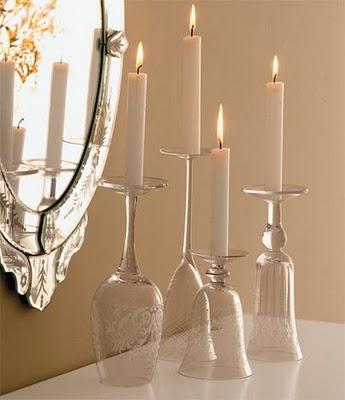 Candelabros para una noche romántica de vasos de vino (9) (345x400, 95Kb)