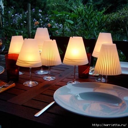 Candelabros para una noche romántica de vasos de vino (11) (450x450, 125Kb)