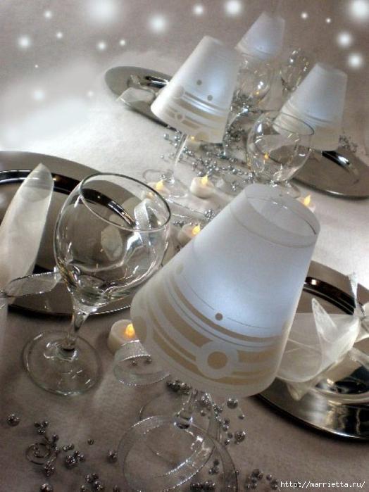 Candelabros para una noche romántica de vasos de vino (13) (524x700, 245Kb)