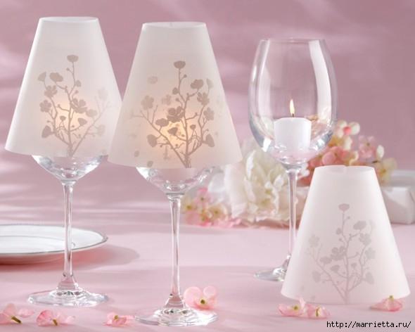 Candelabros para una noche romántica de vasos de vino (15) (590x472, 107Kb)