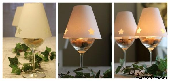 Candelabros para una noche romántica de vasos de vino (19) (590x283, 88Kb)