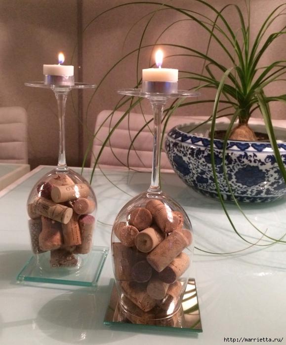 Candelabros para una noche romántica de vasos de vino (23) (579x700, 288KB)