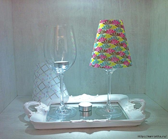 Candelabros para una noche romántica de vasos de vino (28) (700x578, 308KB)