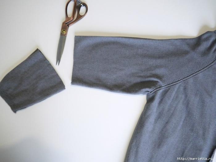 Модная туника из старого жакета. Идея переделки (7) (700x525, 189Kb)