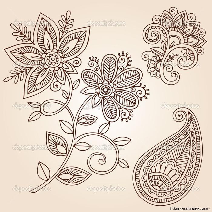 Рисунки для росписи хной. Трафареты ...: www.liveinternet.ru/users/4946294/post351107667