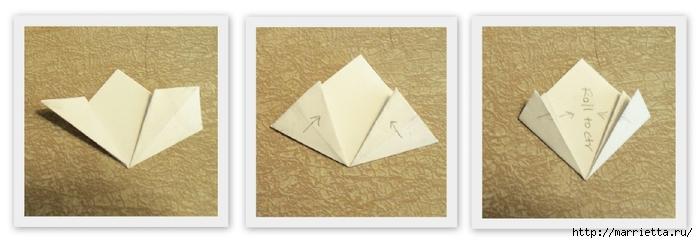 Цветочки оригами для украшения новогодней елочки (2) (700x243, 115Kb)