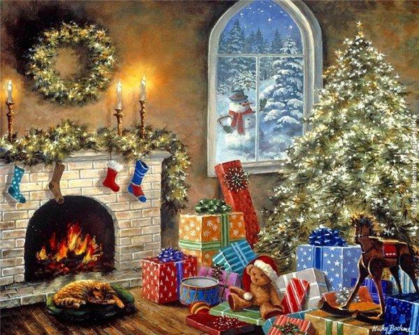 живопись новогоднее настроение 16 (600x480, 356Kb)