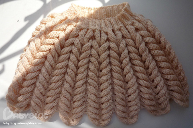 Вязание азиатским колоском