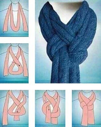 Необычный способ завязать шарф