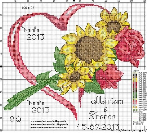 Сердечки на открытках