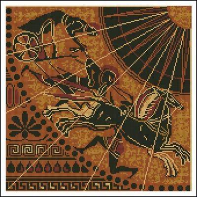 схема вышивки для подушки древняя греция