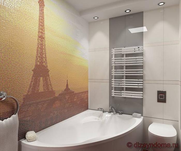 Ванна выложенная мозаикой
