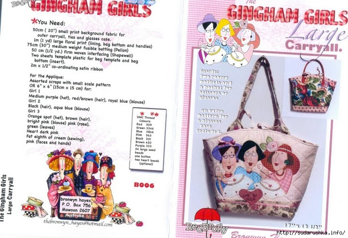 СЃ Bronwny Hayes-Gingham girls Large carry all (700x479, 272Kb)