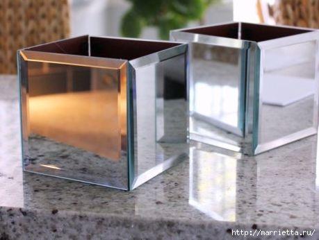 Зеркальные кашпо своими руками (4) (459x346, 76Kb)