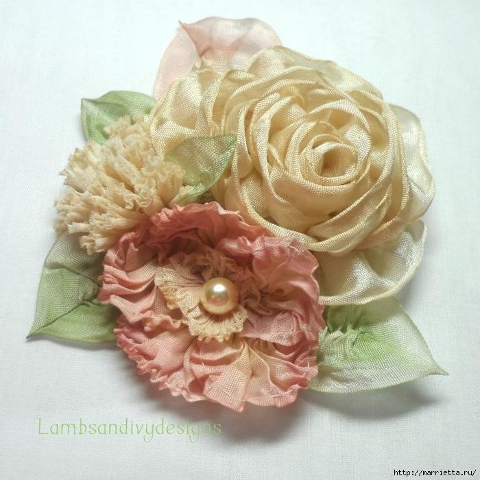 Цветы из ткани для украшения туфелек (1) (700x700, 340Kb)
