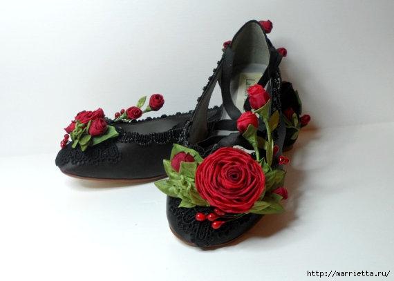 Цветы из ткани для украшения туфелек (8) (570x407, 86Kb)