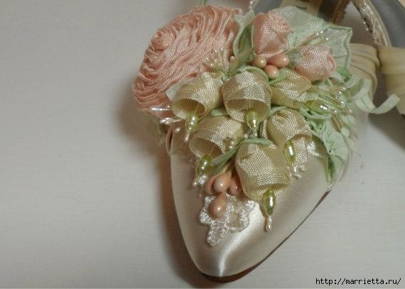 Цветы из ткани для украшения туфелек (10) (570x407, 105Kb)