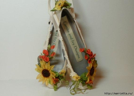 Цветы из ткани для украшения туфелек (12) (570x407, 84Kb)