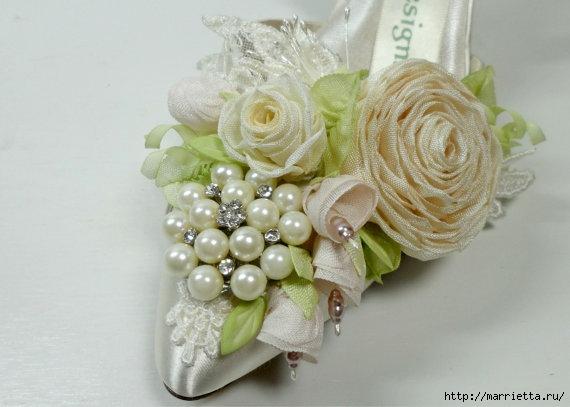 Цветы из ткани для украшения туфелек (22) (570x407, 110Kb)