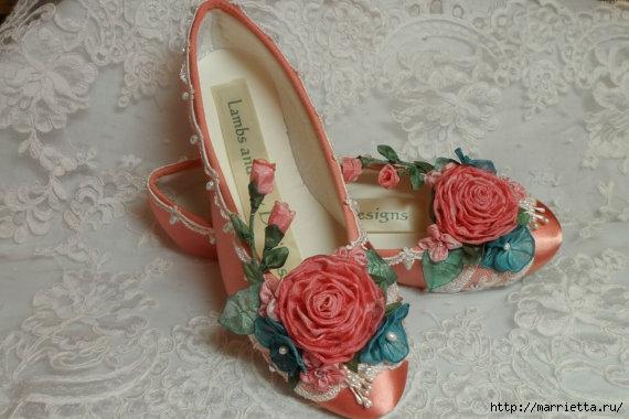 Цветы из ткани для украшения туфелек (30) (570x380, 130Kb)