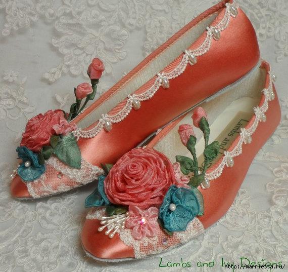 Цветы из ткани для украшения туфелек (31) (570x537, 203Kb)