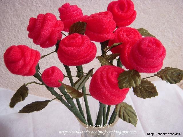 Розы из тонкого поролона. Мастер-класс (8) (640x480, 227Kb)