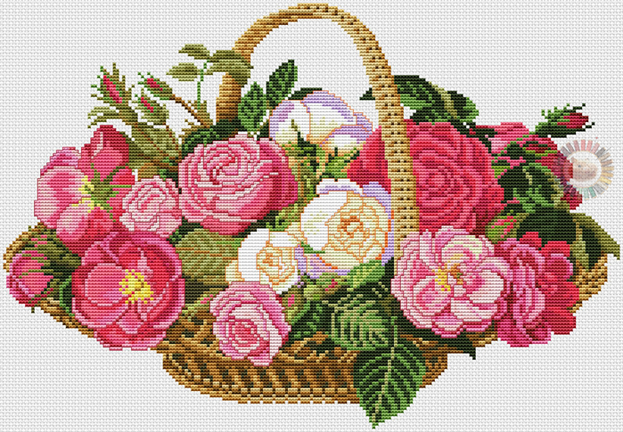 Basket with Roses (700x485, 523Kb)