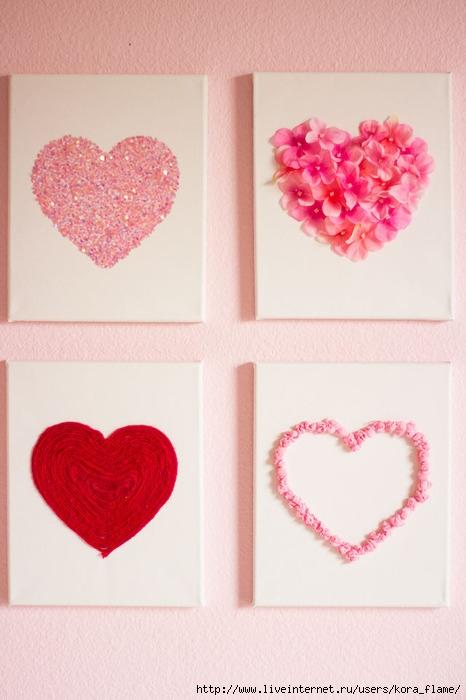 Своими руками сердце на стену 26