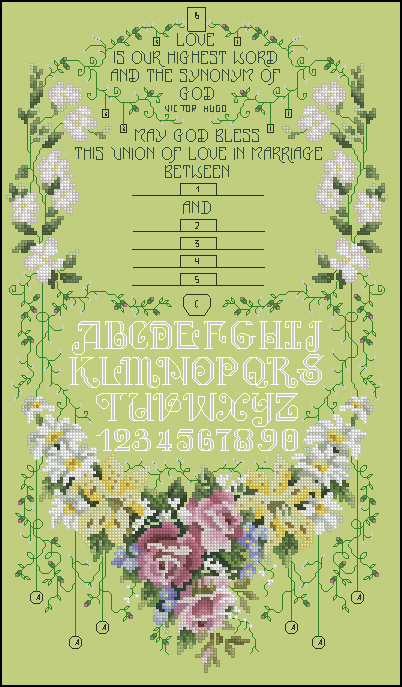 SC318 Wedding Sampler (402x687, 403Kb)