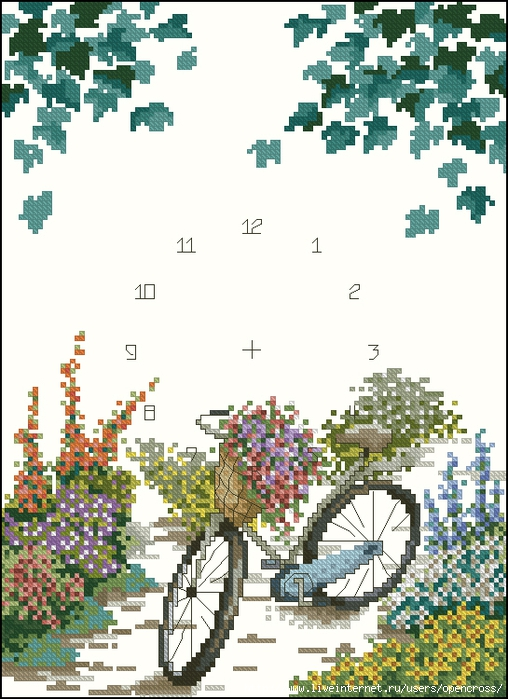bicycle&flowers (508x700, 297Kb)