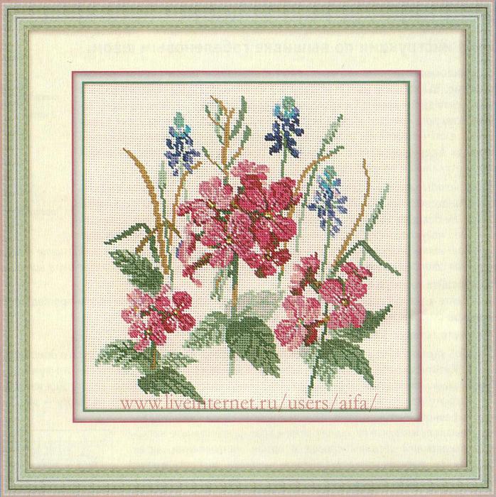 Вышивка крестом, схемы Цветы