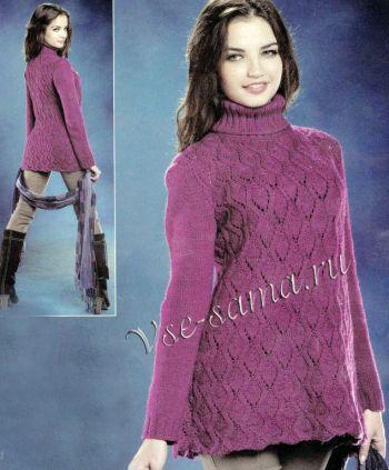 azhurnyi-pulover-spitcami3 (350x423, 30Kb)