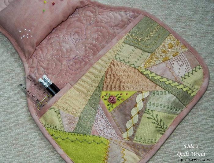 Лоскутное шитье. Полезная штучка для подлокотника дивана (1) (700x535, 368Kb)