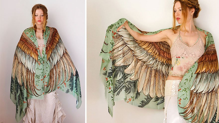 красивые женские платки 9 (700x392, 313Kb)