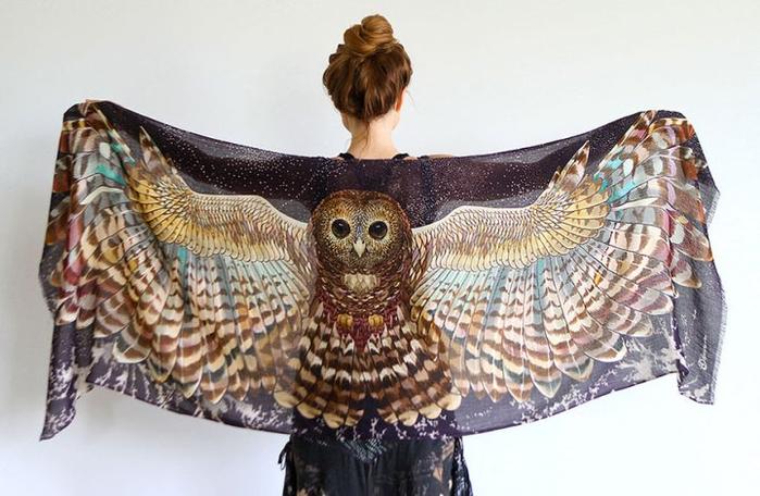 красивые женские платки 12 (700x456, 305Kb)