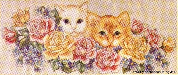Garden Kitties Bag 1 (610x259, 213Kb)