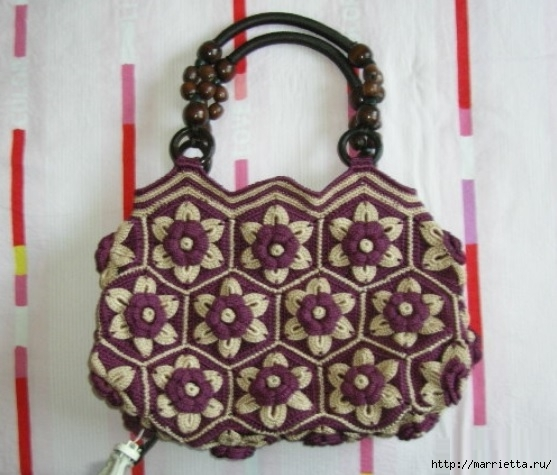 Цветочная сумочка крючком (1) (557x475, 155Kb)