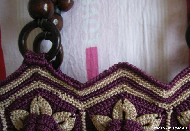 Цветочная сумочка крючком (3) (653x451, 180Kb)